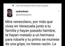 Enlace a Opiniones externas sobre Venezuela