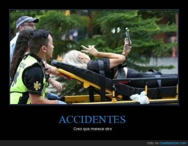 accidente,selfie