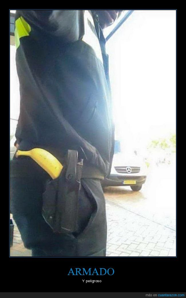 arma,funda,plátano,wtf