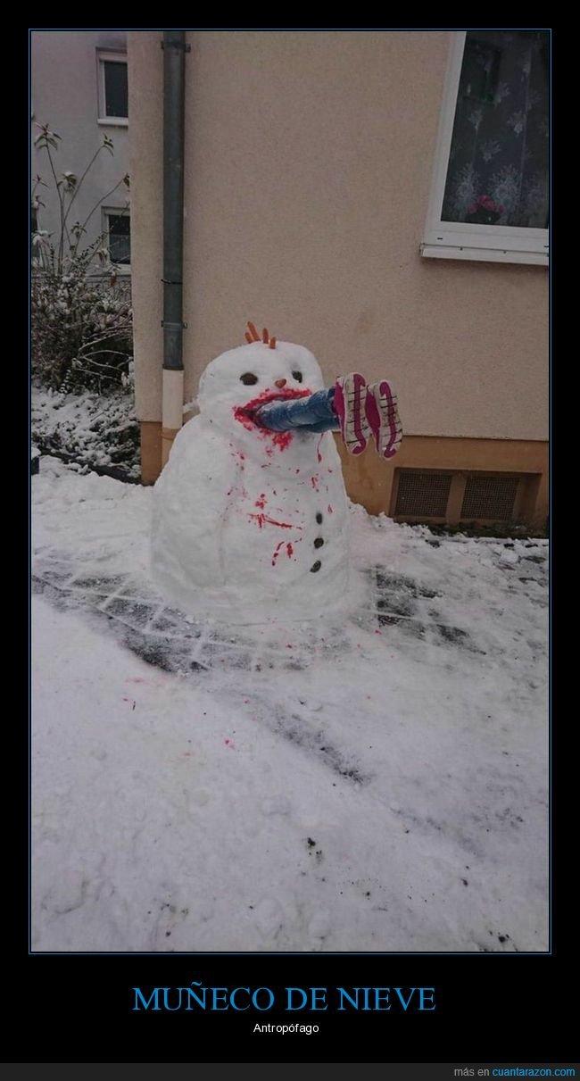 comiendo,muñeco de nieve,wtf
