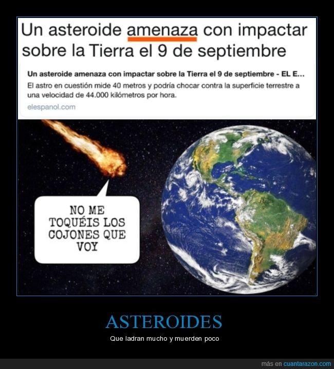 amenazar,asteroide,tierra
