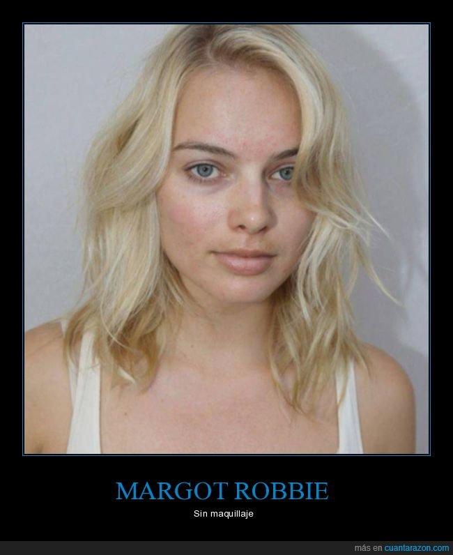 margot robbie,sin maquillaje