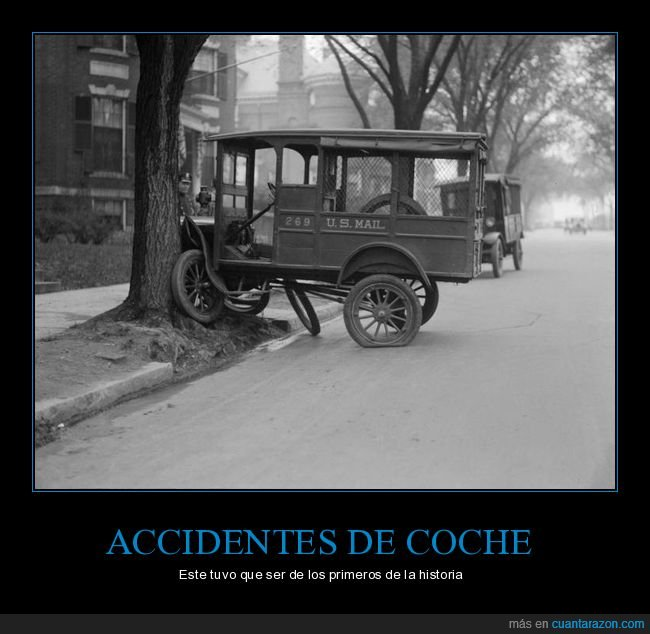 accidente,antiguo,coche,retro
