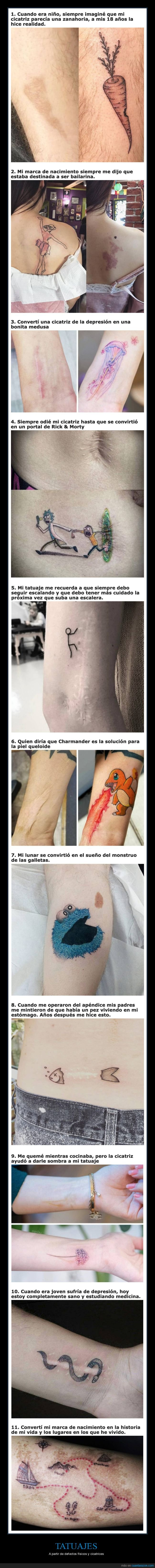 cicatrices,defectos físicos,tatuajes