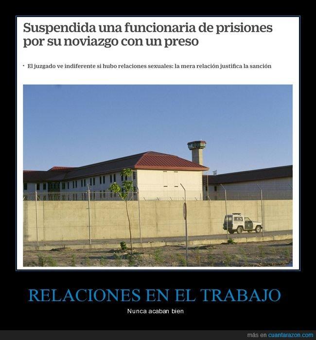 cárcel,funcionaria de prisiones,noviazgo,preso,wtf