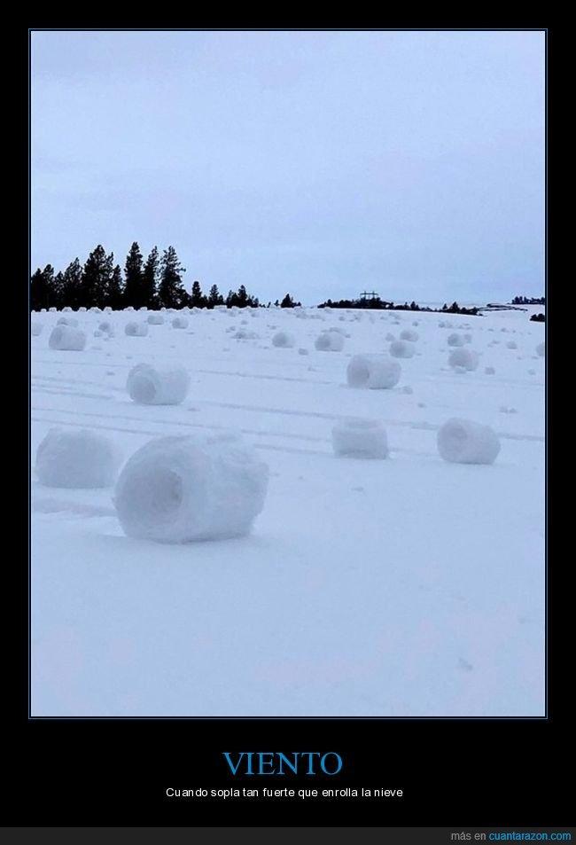 enrollar,fuerte,nieve,soplar,viento