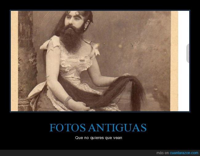 barba,foto antigua,mujer barbuda