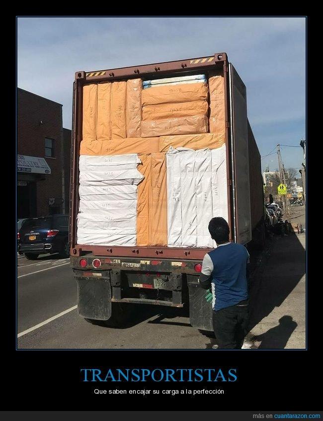 camión,carga,perfección