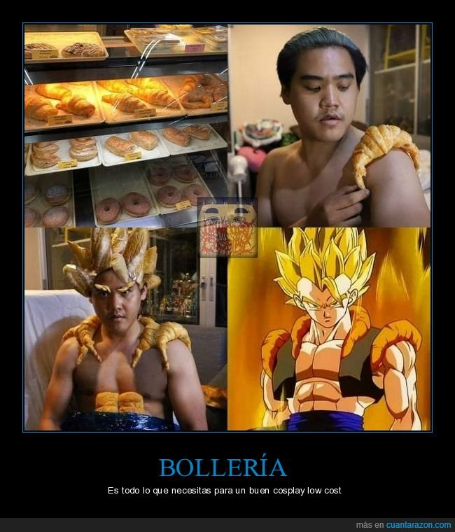 bollería,cosplay,dragon ball,low cost