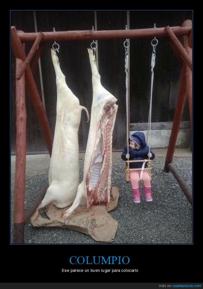 carne,columpio,niña,wtf