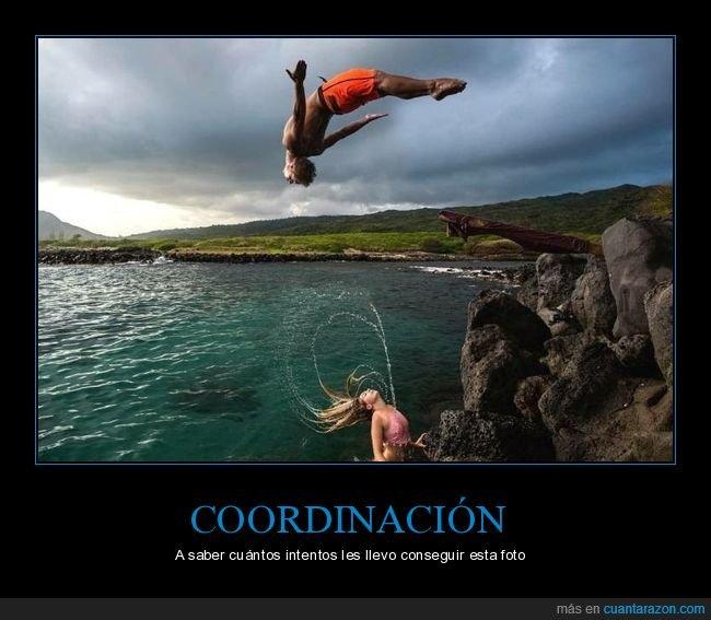 agua,coordinación,mar,pelo,salto