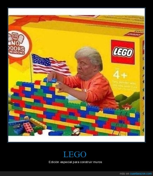 donald trump,lego,muro,políticos