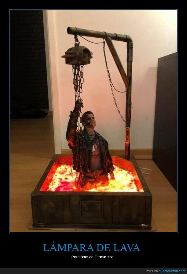 escultura,lámpara de lava,terminator