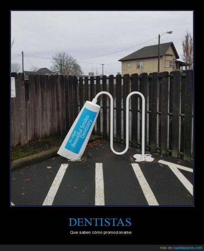 anuncio,dentista,pasta de dientes