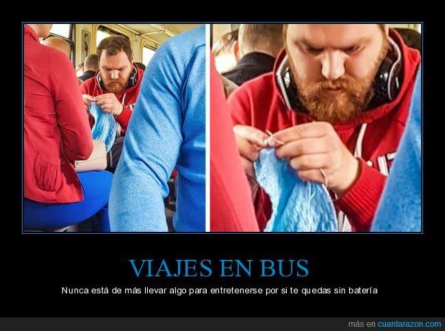 autobús,tejiendo,wtf