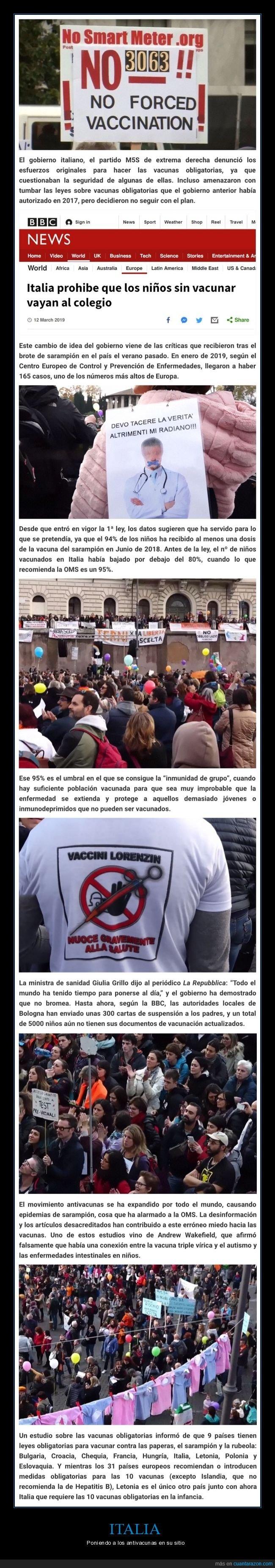 antivacunas,italia,vacunas