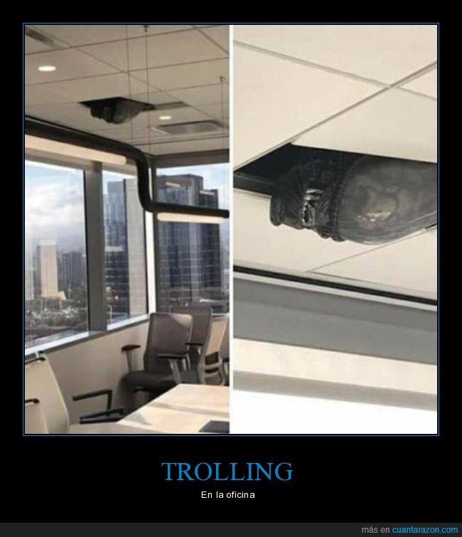 alien,oficina,trolling