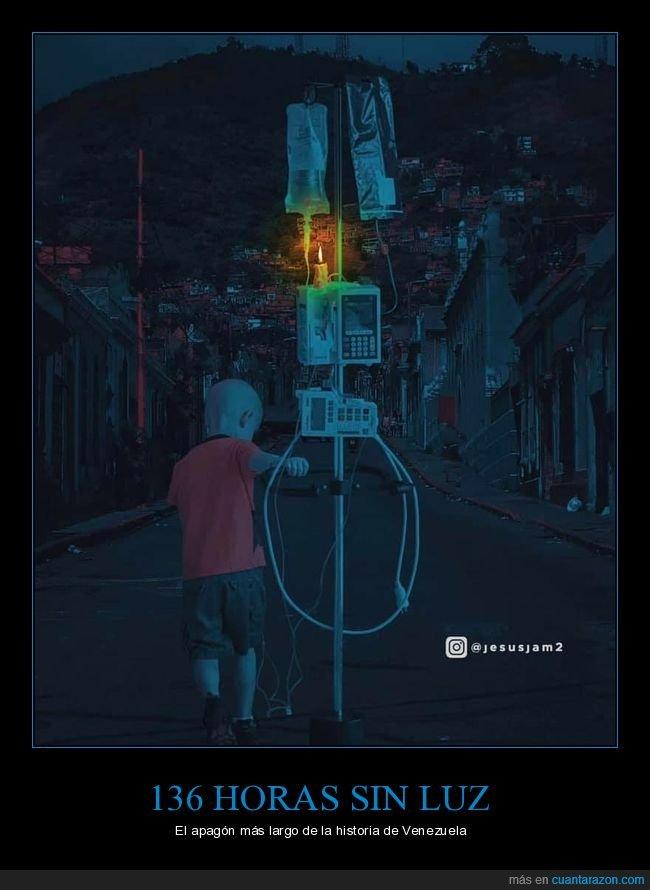 apagón,luz,venezuela