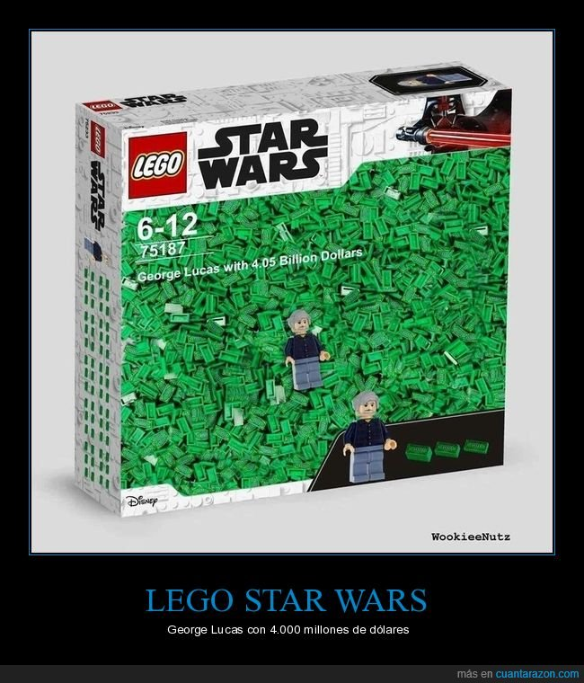 dinero,george lucas,lego,millones,star wars
