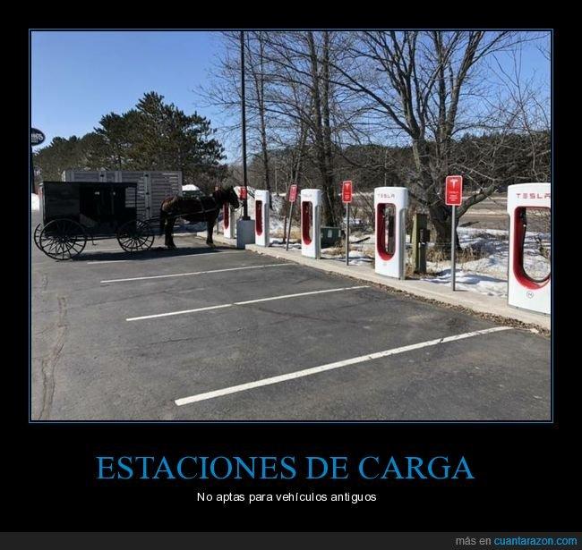 caballo,carruaje,coches eléctricos,estación de carga
