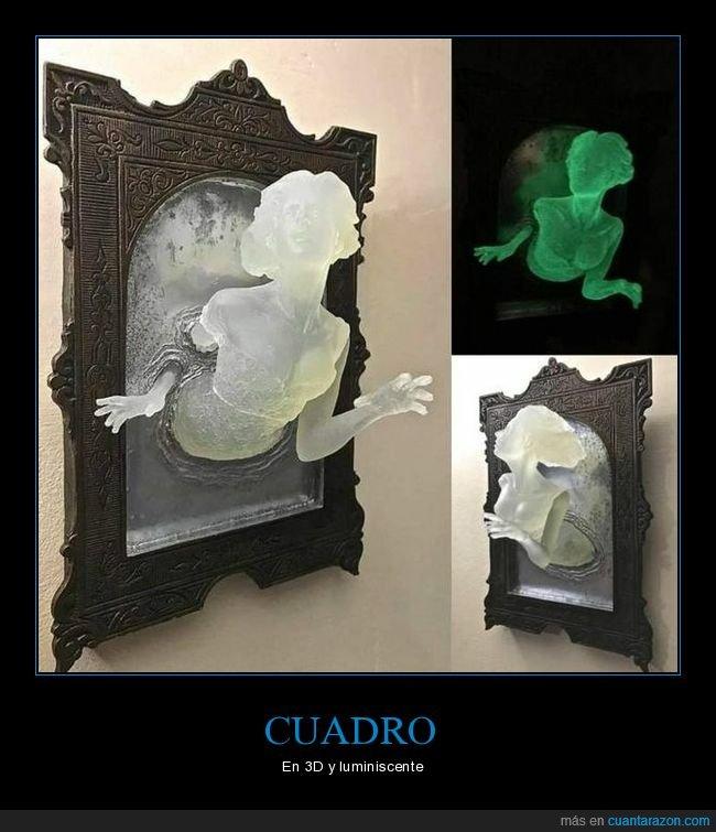 3d,cuadro,fantasma,luminiscente