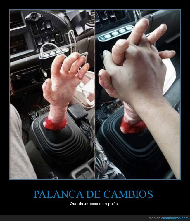 coche,mano,palanca de cambios
