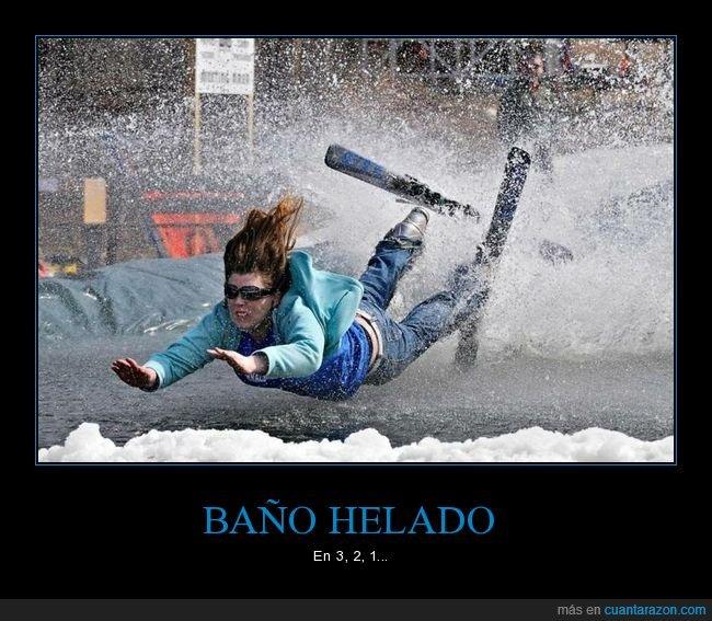 agua,esquí,fails,momento exacto