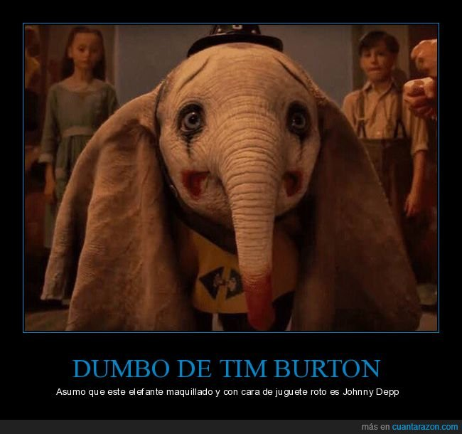 dumbo,elefante,johnny depp,tim burton