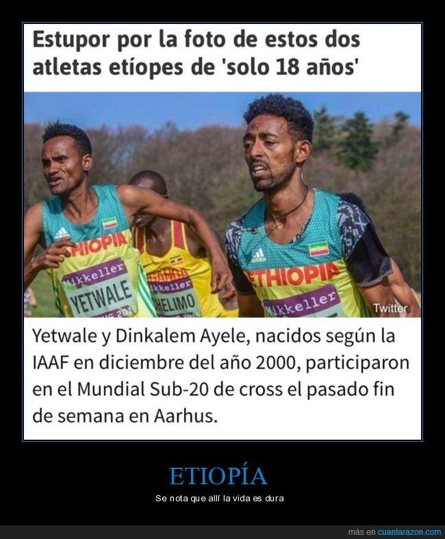 18 años,atletas,edad,etíopes,wtf