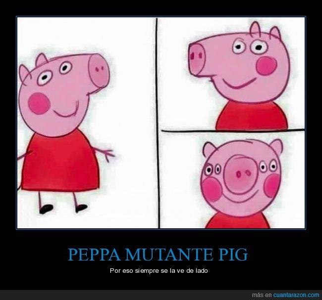 de frente,ojos,peppa pig