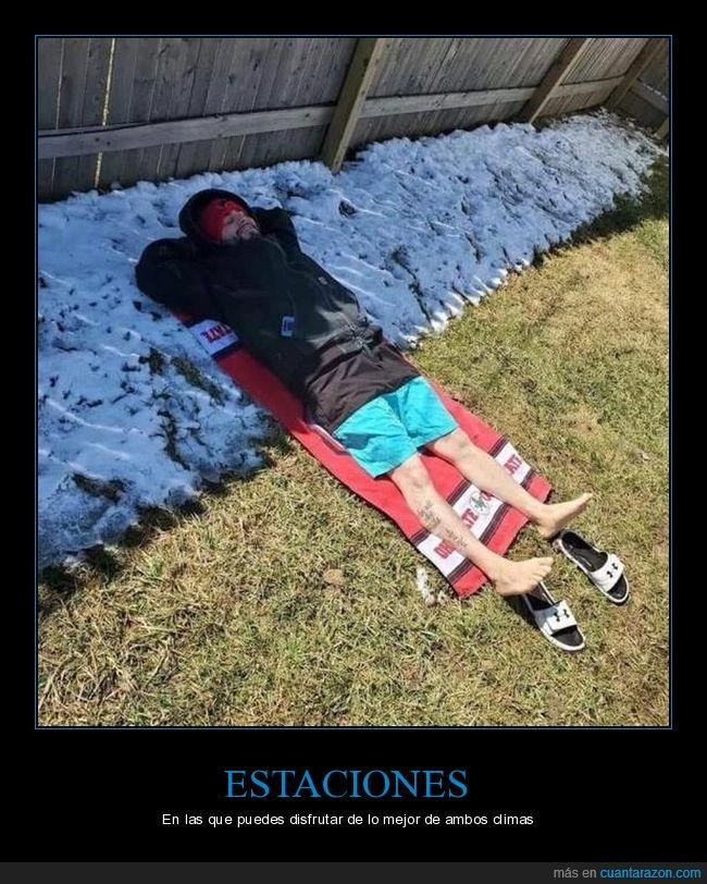 clima,invierno,nieve,sol,verano