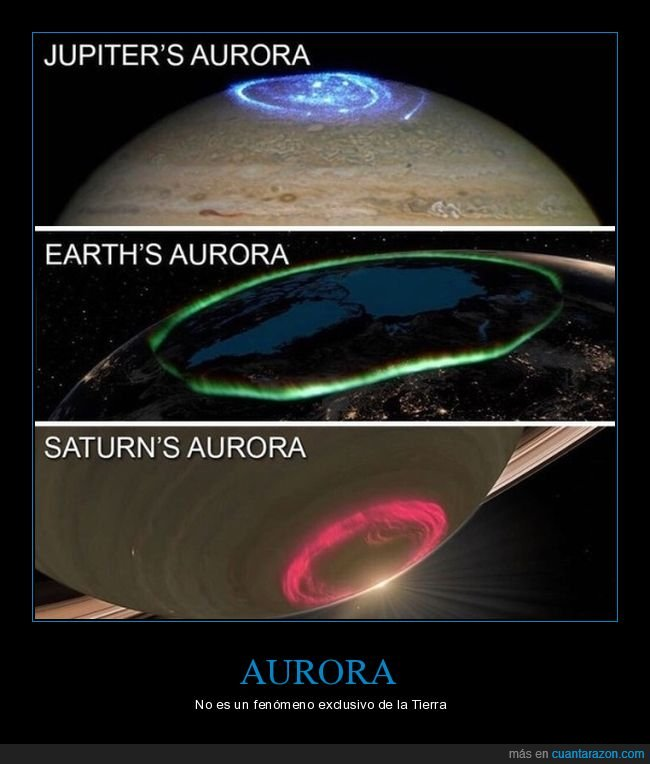 aurora,júpiter,planetas,saturno,tierra