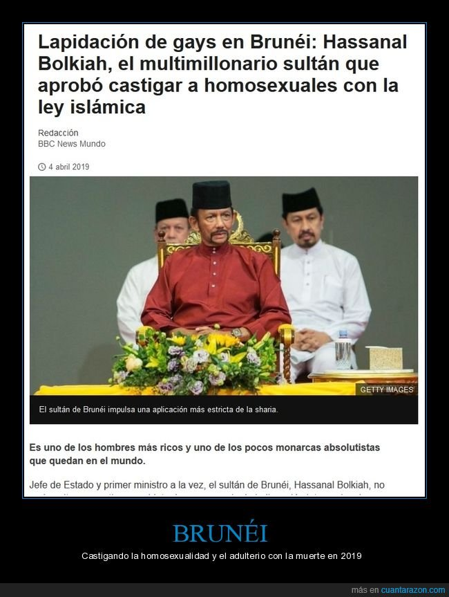 bolkiah,brunéi,homosexualidad,ley islámica