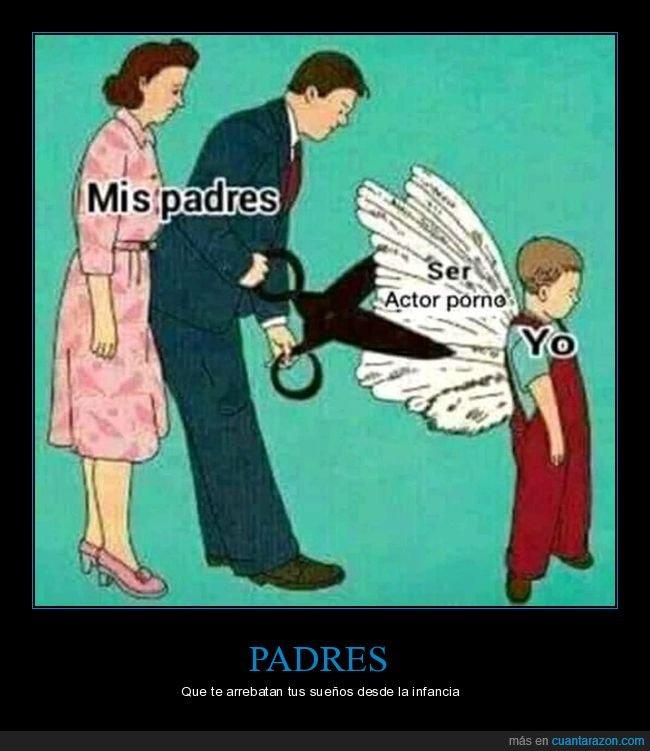 alas,cortando,hijo,padres
