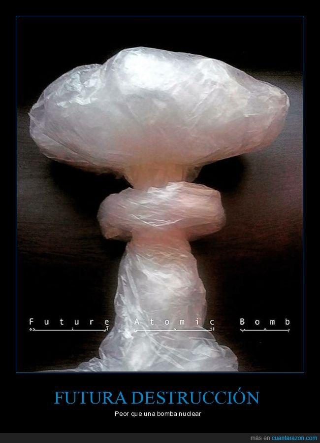 bomba atómica,contaminación,plástico