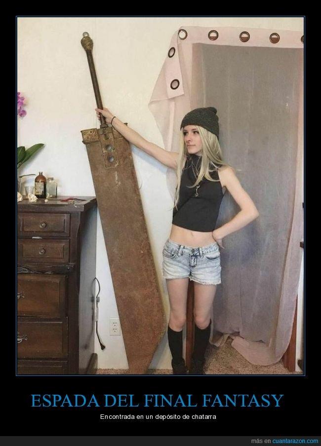 depósito de chatarra,espada,final fantasy