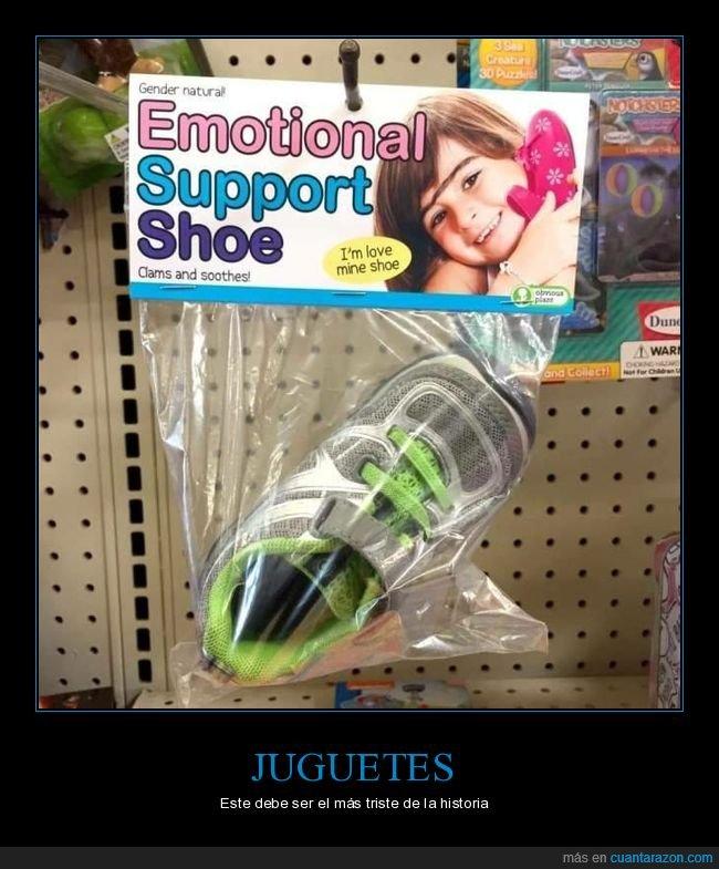 apoyo emocional,juguete,zapato