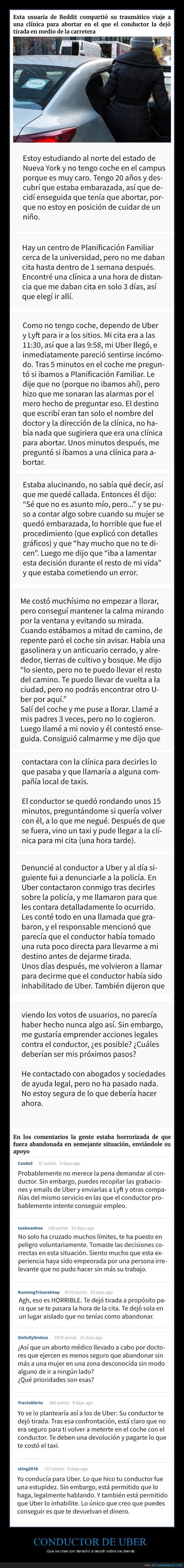abortar,conductor,uber