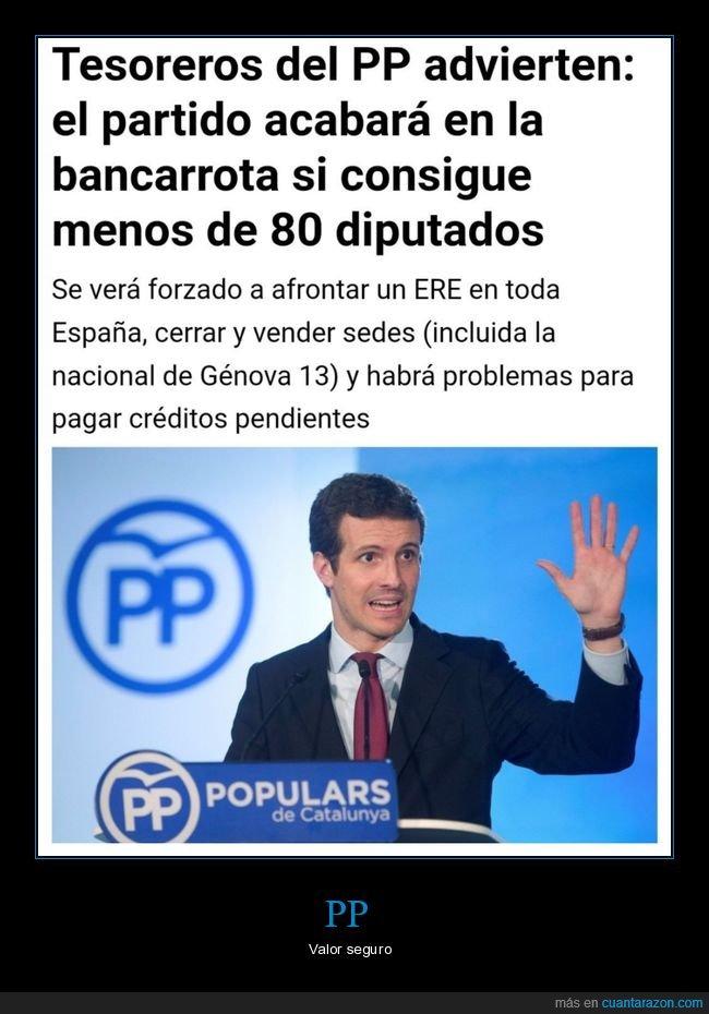 bancarrota,diputados,políticos,pp