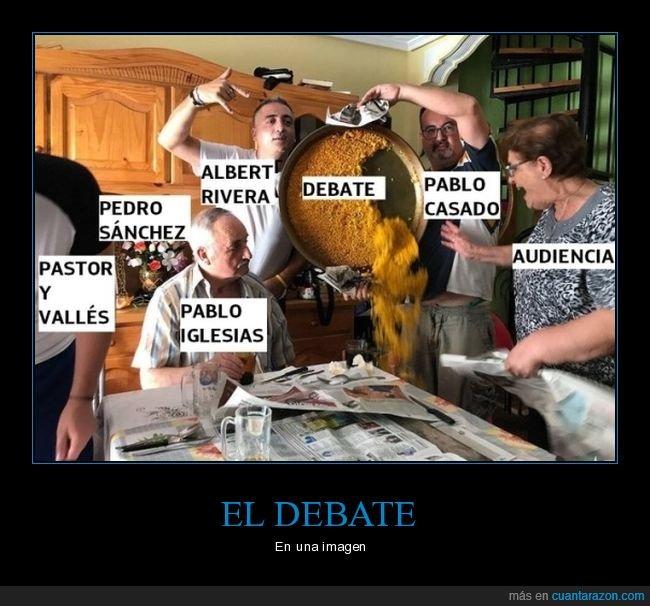 debate,paella,políticos