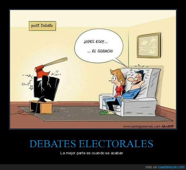 albert rivera,debate,políticos,silencio