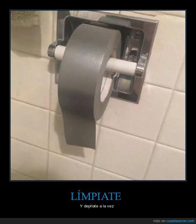 cinta aislante,papel de wc