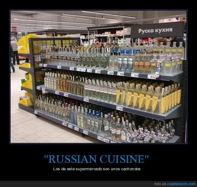alcohol,ruso,russian cuisine,supermercado