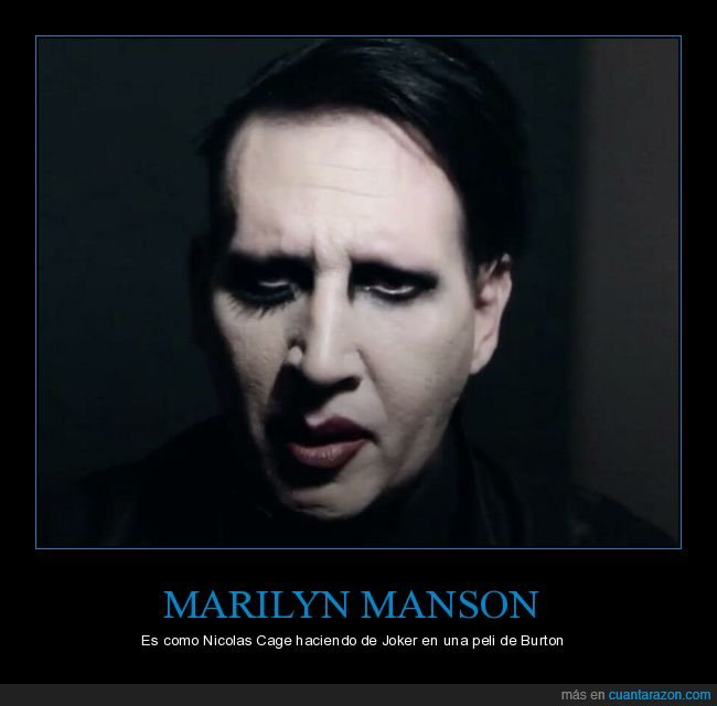 burton,joker,marilyn manson,nicolas cage