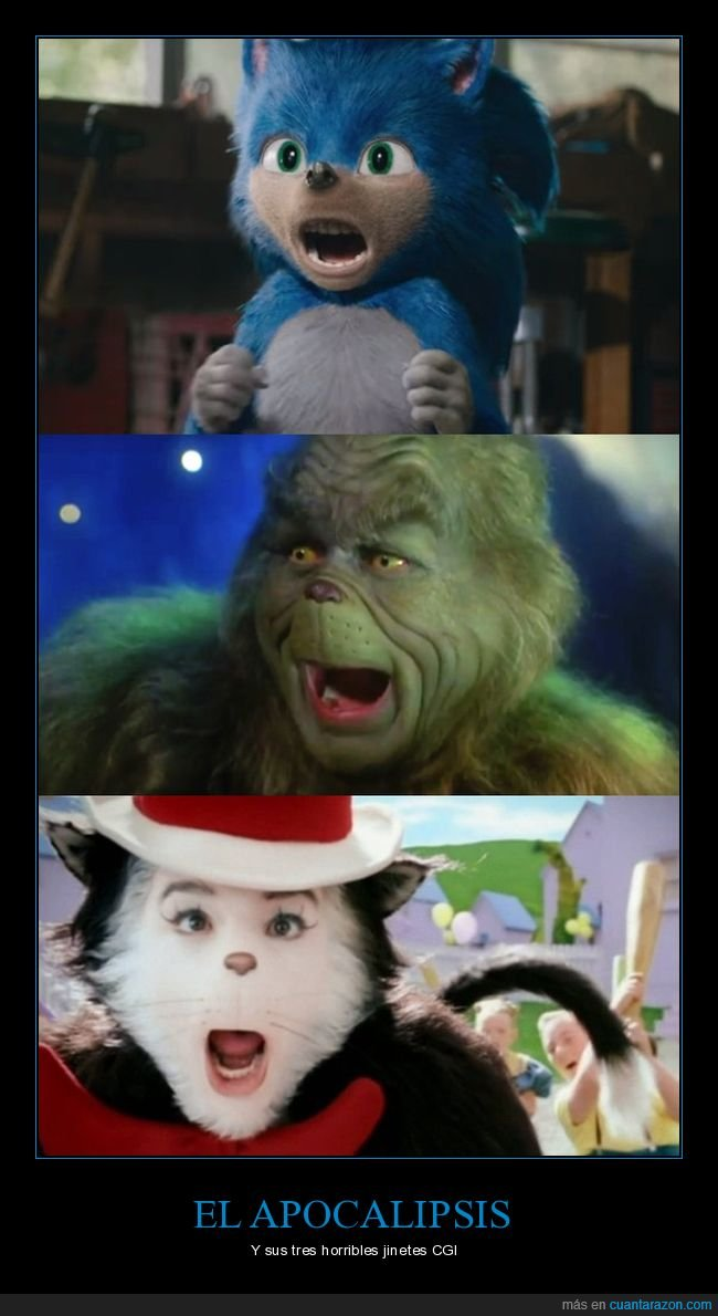 cgi,grinch,horrible,sonic