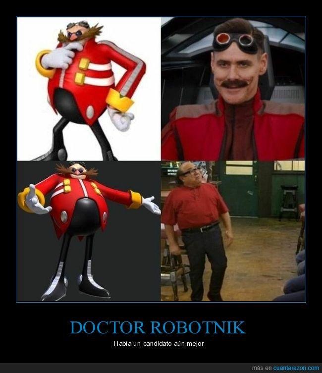 danny devito,doctor robotnik,jim carrey