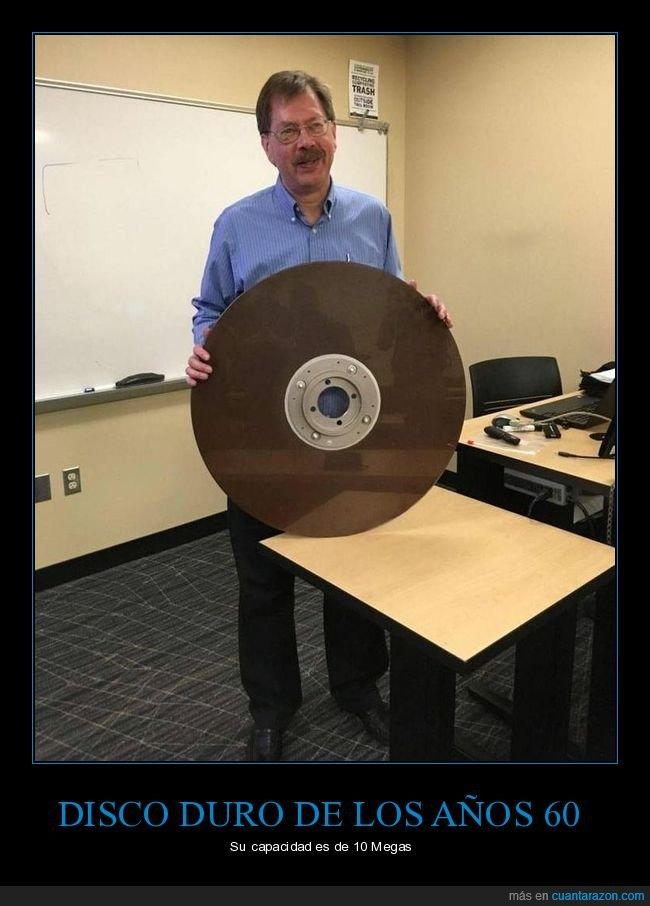 10MB,años 60,disco duro