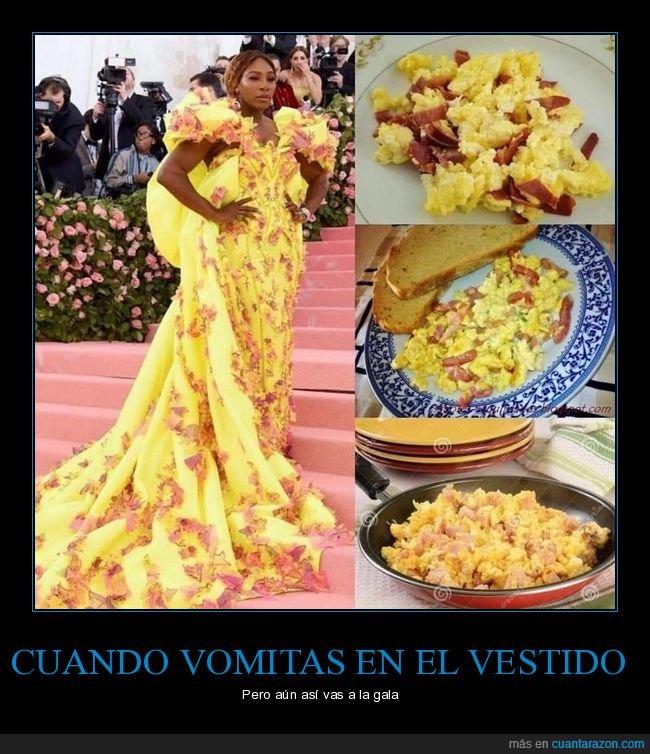 huevos revueltos,parecidos,vestido