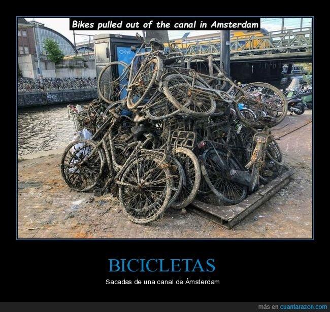 ámsterdam,bicicletas,canal