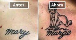 Enlace a Personas que cubrieron los tatuajes de sus exparejas cuando todo salió mal